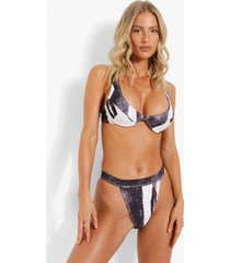 abstracte bikini top met vollere cups en beugel, mono