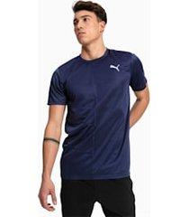 ignite short sleeve hardloop-t-shirt voor heren, blauw, maat l | puma