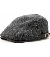 lake of the isles men's hat herringbone ivy/cabbie/driver cap w/ adjustable tabs