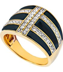 women's 14k gold plated ring in sterling silver
