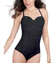 body control panty con copa removible tall para mujer negro
