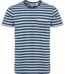 levi's sunset stripe t-shirt - blue & grey mel 29813-0059