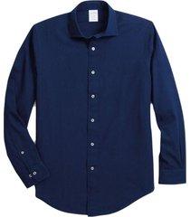 camisa regent fit indigo dobby azul brooks brothers