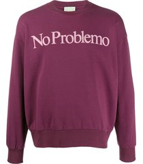 aries 'no problemo' sweatshirt - red