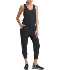 dkny drawstring-waist jumpsuit