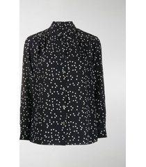 a.p.c. silk heart print blouse