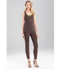 undercover tank pajamas, women's, grey, size m, josie natori