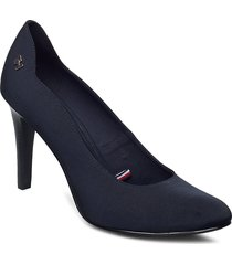 essential high heel pump shoes heels pumps classic blå tommy hilfiger