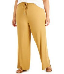 derek heart trendy plus size high-rise wide-leg pants