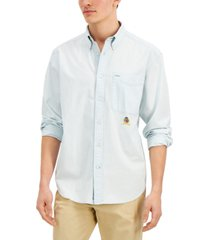 tommy hilfiger men's big & tall relaxed-fit iconic re-issue waithe chambray shirt