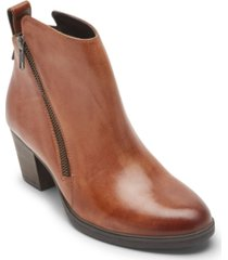 rockport women's maddie ankle zip booties women's shoes
