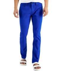 inc international concepts men's slim-fit stretch colored jeans, created for macy's