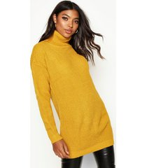 tall roll neck sweater, mustard