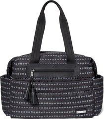 bolsa maternidade skip hop - coleção riverside ultra light satchel - black dot