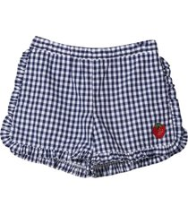 sonia rykiel enfant check shorts