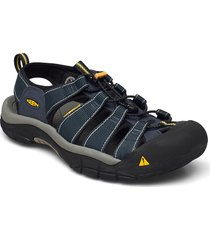 ke newport h2 m navy-medium gray shoes summer shoes sandals blå keen