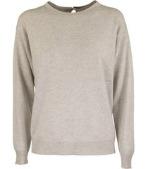 brunello cucinelli cashmere crewneck sweater with monili applications