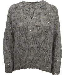 brunello cucinelli mohair, wool and cotton dazzling sweater