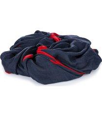 valentino v logo scarf blue, navy, red sz:
