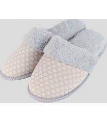 pantuflas de descanso gris baziani