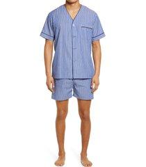 men's majestic international rosy outlook pajamas, size large - blue