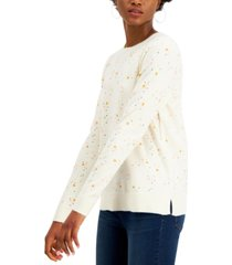 style & co star-print sweater, created for macy's