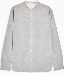 mens selected homme blue long sleeve shirt