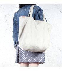 lazy bag torba beżowa na zamek / vegan / eco