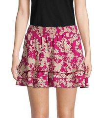 abstract-print mini skirt
