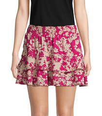 abstract-print mini skirt