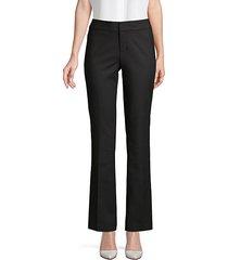 bootcut cotton-blend pants