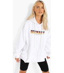 duitsland euro hoodie, white