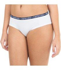 calcinha boy short branca capricho college - 520.024 capricho lingerie boneca branco