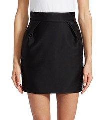 alexandre vauthier women's straight mini skirt - black - size 34 (2)