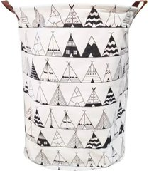 cesto de roupas organizador dobrã¡vel cabana - 42 cm x 35 cm - preto - feminino - dafiti