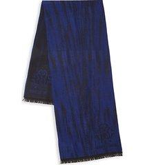 wool-blend print logo scarf