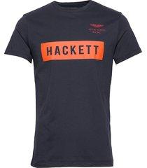amr hackett tee t-shirts short-sleeved blå hackett london