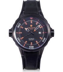lancaster designer men's watches, space shuttle automatic stainless steel and silicon men's watch