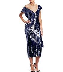 asymmetrical sequin dress