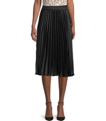 rd style women's pleated skirt - black - size l