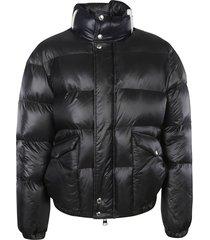 alexander mcqueen logo collar padded jacket