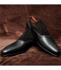 handmade black brogue leather shoes oxford bespoke dress stylish formal men