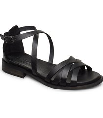 cala shoes summer shoes flat sandals svart pavement