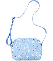 ganni women's fairmont printed crossbody bag - serenity blue