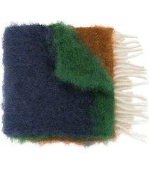 loewe panelled logo scarf - multicolour