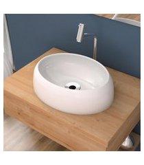 cuba de apoio para banheiro compace capri ov39w oval branca