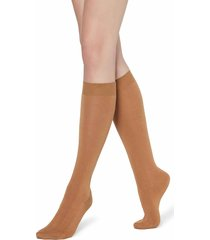 calzedonia - long socks in cotton with cashmere, 36-38, brown, women