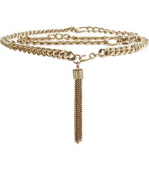 reiss cleo - chain belt in gold, womens, size l