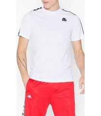 kappa t-shirt s/s auth charlton t-shirts & linnen vit/svart