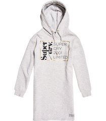 vestido para mujer oversized scandi hooded dress superdry